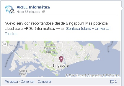 ARIEl Informática desde Singapour